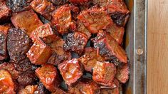 Weekend Recipe: Barbecued Burnt Ends - this recipe will save you a trip to Kansas City! Vegetarian Grilling, Healthy Grilling Recipes, Barbecue Recipes, Barbecue Sauce, Cooker Recipes, Beef Recipes, Vegetarian Recipes, Barbacoa, Brisket Burnt Ends