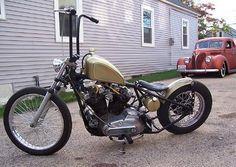 1974 Custom Sportster Ironhead Bobber Motorcycle By Kyle Harley Davidson Sportster 883, Ironhead Sportster, Custom Sportster, Harley Bobber, Custom Bobber, Harley Bikes, Harley Davidson Motorcycles, Custom Motorcycles, Vintage Motorcycles