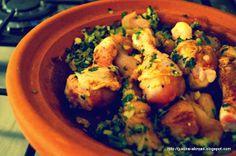 Tajine with chicken, green olives and pickled lemon