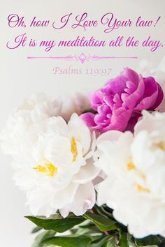 """O how I love thy law! It is my meditation all the day."" Psalm‬ ‭119‬:‭97‬ KJV"