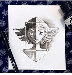 Inktober I haven't been happy with my recent inktober drawings, they all feel rushed and soulless. Dark Art Drawings, Pencil Art Drawings, Art Drawings Sketches, Cute Drawings, Drawing Drawing, Art Sinistre, Kunst Tattoos, Creepy Art, Horror Art