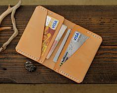 Tarjeta monedero de cuero titular de la tarjeta, carpeta de cuero, billeteras de para hombre, billetera de cuero de los hombres, regalo del padrino, billetera para hombre, regalos para hombres