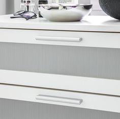 Barrie Kommode - Weiß - mit 4 Schubladen