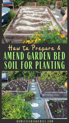 Come learn how to prepare a new or established garden bed for planting. We'll talk about removing old plants no-till gardening when and how to amend soil fertilizer selection compost mulch planting tips & more. Olive Garden, Veg Garden, Garden Plants, Vegetable Gardening, Veggie Gardens, Planting A Garden, Garden Mulch, Garden Farm, Potager Garden