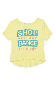 Junk Food 'Shop All Day' Graphic Tee (Little Girls & Big Girls)   Available at Nordstrom