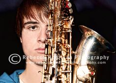 Cool senior picture idea for a sax player