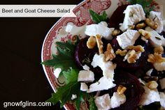 Beet and Goat Cheese Salad | If you are not a fan of beets, perhaps it is because you haven't really tasted them fresh! Since both the tops and the roots can be eaten, beets perform double duty in the kitchen. For this salad, the beets are cooked and tossed warm with about two tablespoons of balsamic vinegar. Before serving, the salad is drizzled with olive oil. This makes for a very light, fresh tasting salad. | TraditionalCookingSchool.com