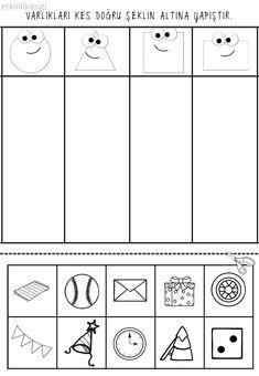Top 40 Examples for Handmade Paper Events - Everything About Kindergarten Kindergarten Math Worksheets, Preschool Education, Preschool Learning Activities, Preschool Lessons, In Kindergarten, Preschool Activities, Kids Learning, Preschool Shapes, Shapes Worksheets
