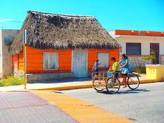 Colorful San Felipe, Yucatan, Mexico via Flickr.