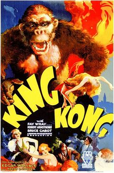 Prolific best-selling writer Edgar Wallace wrote over 170 books and also achieved success as a film director and playwright. Horror Movie Posters, Horror Movies, King Kong 1933, Jack Johns, Beast Creature, Pet Monkey, Merian, Creature Feature, About Time Movie
