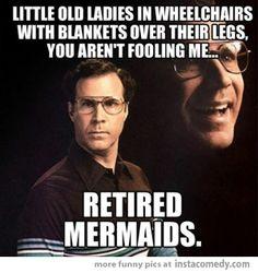 Retired mermaids