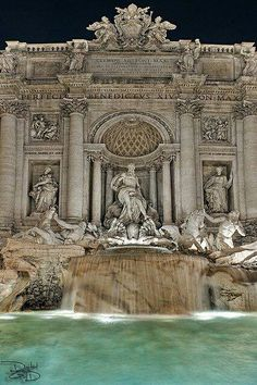Trevi Fountain in Rome - I've tossed a few pennies in on my visits.I will visit Rome again. Wonderful Places, Great Places, Places To See, Beautiful Places, Romantic Places, Romantic Travel, Beautiful Boys, Places Around The World, Travel Around The World