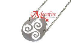 TEEN WOLF Triskele Fire Pendant Necklace