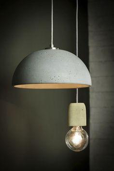 Pendant lamp / contemporary / concrete - LUCENDI GLOBUS28 - Urbi et Orbi