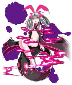 View an image titled 'Kaguya, Blood Skelter Mode Art' in our Mary Skelter: Nightmares art gallery featuring official character designs, concept art, and promo pictures. Anime Girl Hot, Girls Anime, Manga Girl, Game Character Design, Character Concept, Character Art, Cute Characters, Fantasy Characters, Anime Characters