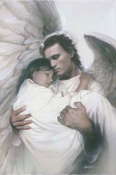 In the arms of an angel, very true! They help bring us and our loved ones to meet the Lord. May this bring comfort to those who have lost a loved one. Know that one day your tears will be wiped dry and you will be in unending JOY! They await for you.