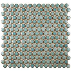 Merola Tile Hudson Penny Round Marine 12 in. x 12-5/8 in. x 5 mm Porcelain Mosaic Tile (10.2 sq. ft. / case)
