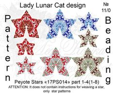 Christmas peyote patterns Stars Peyote pattern Deer seed