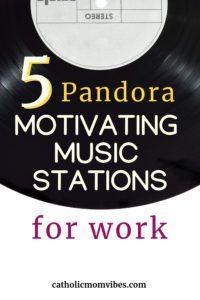 5 Favorite Pandora Stations for Motivation - Catholic Mom Vibes Best Pandora Stations, Comedy Radio, Catholic Doctrine, Pandora Radio, Getting Played, Music Station, Work Motivation, Music Radio, Teaching Music