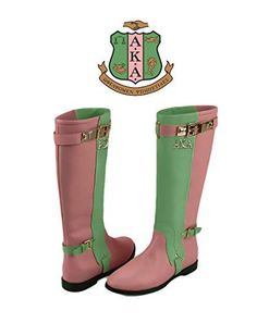 Alpha Kappa Alpha 1908 Sorority Inc Pink Green Boots Heels Memorabilia Pin Barbie Pearls Mirror Gear License Plate Plaque Shoes Hat Dress Shirt Custom Adriano Diamante