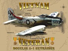 A-1 Skyraider Vietnam Veteran Digital Art