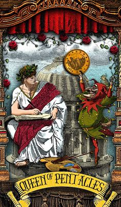 Queen of Pentacles - The Tarot of Mister Punch: Coin of the Realm