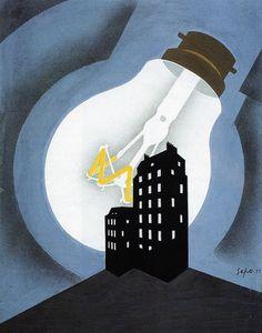 Severo-Pozzati-bozetto-per-manifesto-con-lampadina-1939.jpg (Image JPEG, 1280×1632 pixels)