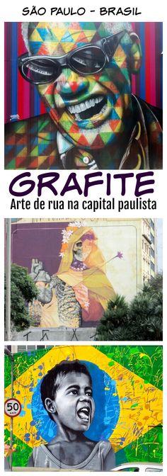 São Paulo - Brasil - Arte de rua: um tour pelos nossos artistas favoritos e seus trabalhos pelas ruas da capital paulista. Grafites em Sampa.