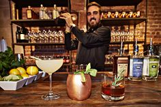 """Three specialty cocktails means everyone can find their favorite drink! Featuring: """"The Saucy 75"""", """"The Copper Mule"""" & """"The Melrose Manhattan"""""""