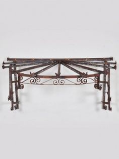 Antique French Hand Forged Iron Canopy