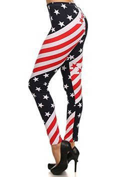 World of Leggings Star Twist USA Flag Leggings >>> See this great product.
