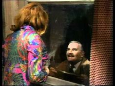 Arkwright, up a ladder, admiring the scenery through Nurse Gladys Emmanuel's window . British Sitcoms, British Comedy, The Two Ronnies, Ronnie Barker, Open All Hours, Are You Being Served, Great Comedies, Anthology Series, Great British