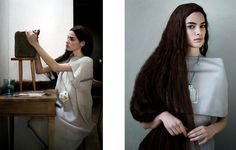 Dream Weaver – Elsbeth Struijk van Bergen (Love & Hate Inc.) captures this romantic story for the April issue of Surface Magazine, starring Isabella Oelz as a… Surface Magazine, Ginger Hair, Hair Pictures, Bergen, Hair Inspiration, Editorial Fashion, Curls, Vogue, Hairstyle