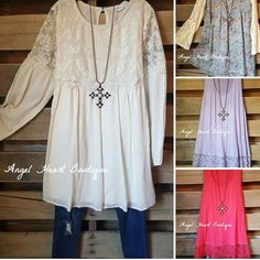 Angel Heart Boutique is regular size and plus size boutique that offers trendy women's online clothing like tunics, dresses, tops, all for affordable prices.