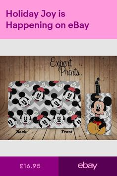 e66300bd76a2 Minnie Mouse Mickey Disney Pattern New Printed Passport Cover   Luggage Tag