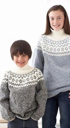 Kid's Classic Fair Isle Sweater-free pattern @ All Free Knitting All Free Knitting, Fair Isle Knitting Patterns, Fair Isle Pattern, Knitting For Kids, Baby Knitting, Crochet Patterns, Loom Knitting, Knitting Needles, Stitch Patterns