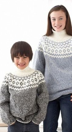Kid's Classic Fair Isle Sweater-free pattern @ All Free Knitting
