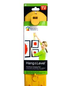 Hang & Level marks exactly where the nail or hook goes, making it quick and easy to hang pictures like a pro. Works with any picture hanging hardware.