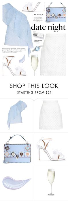 """""""Sin título #1173"""" by yexyka ❤ liked on Polyvore featuring Rosie Assoulin, Carven, Fendi, Aquazzura, Loewe, Anja, Crate and Barrel, Couture Colour, Thomas Sabo and DateNight"""