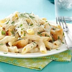 This rich, creamy pasta dish is a snap to throw together for a weeknight meal but special enough for company. You can substitute another cheese for the Gorgonzola if you like. —George Schroeder, Port Murray, New Jersey