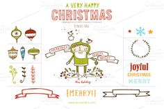 Check out Happy Christmas (Clipart) by LaRue & Company on Creative Market