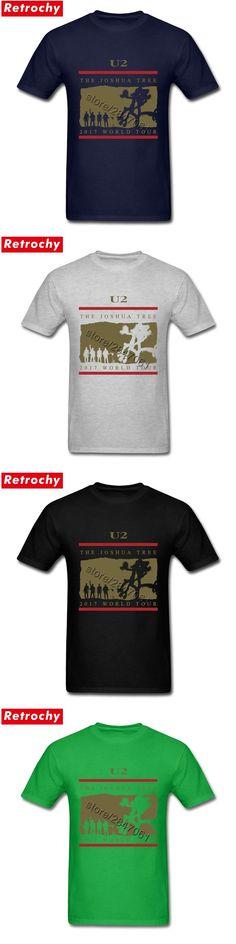 Men's Latest Original U2 T Shirt Men 2017 World Tour Tee The Joshua Tree T-shirt Concert Official Short Sleeve Irish Band Tshirt
