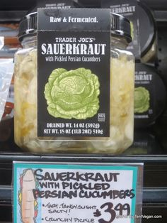 Sauerkraut with Pickled Persian Cucumbers