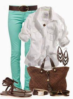 Mint, brown & white!