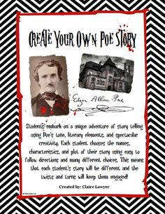 "Help your students learn how to put together a murder mystery short story using the examples, tone, and phrases of Edgar Allan Poe! Students can use this ""how-to"" guide to help them develop all the elements of a short story that is also a murder mystery. There are great graphics that increase student participation and questions throughout the guide that help students understand the loop holes and issues that are typically seen when students are writing a short story. #highschoolenglish #writing"
