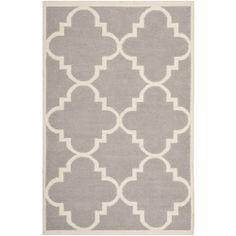 Safavieh Handwoven Moroccan Dhurrie Dark Gray Wool Area Rug (6' x 9')   $211