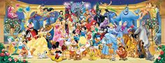 Photo Ravensburger 15109 - Disney: Group Picture (pamorama) - Jigsaw 1000 pieces 1