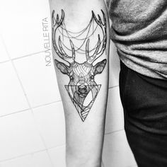 #nouvellerita #stag #tattoo #linework #etching