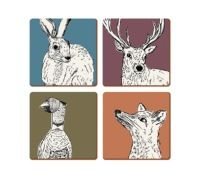 medium Placemats, Highland Stag Creative Tops Highland Stag 6-piece Set Of Elegant And Graceful Kitchen, Dining & Bar
