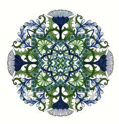 Mandala by CYNTHIA EMERLYE Coloring by Harold Suttles Coloring Books, Coloring Pages, Colouring Techniques, Ancient Symbols, Mandala Coloring, Mandala Design, Yin Yang, Fractal Art, Sacred Geometry
